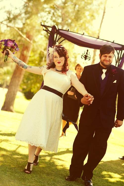 Candace & Tyler's Tattoo-Heavy, Punk Rock Wedding