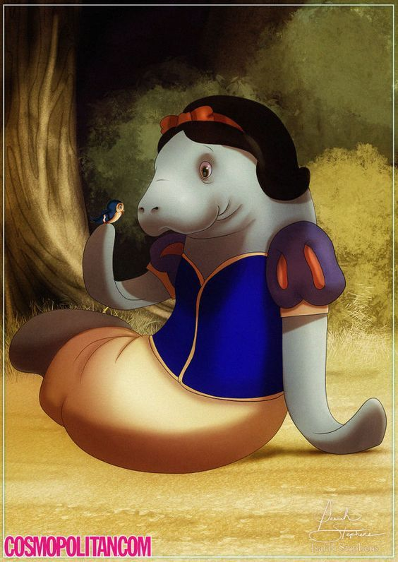 If Disney Princesses Were Manatees, Obviously