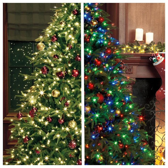 Christmas Tree Decorating Ideas Colored Lights: Tree With (White Lights Change To Multi-color With A Touch