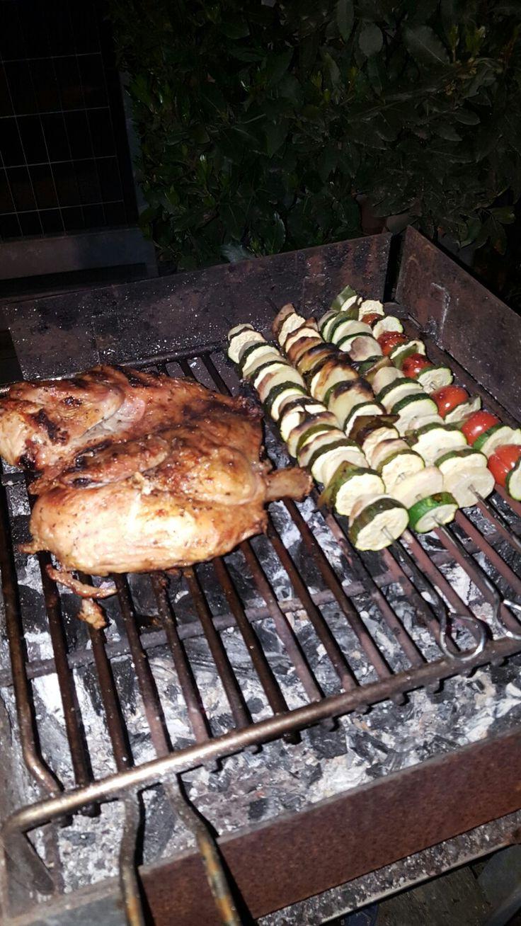 Pollo speziato alla griglia..