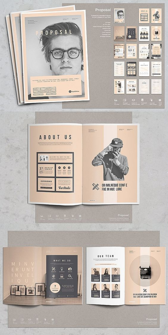 100+ Creative PSD Brochure Templates for Free 2019