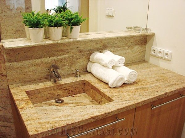 You need to know that this kind of bathroom vanity top provides through sink. Description from topsvanities.com. I searched for this on bing.com/images