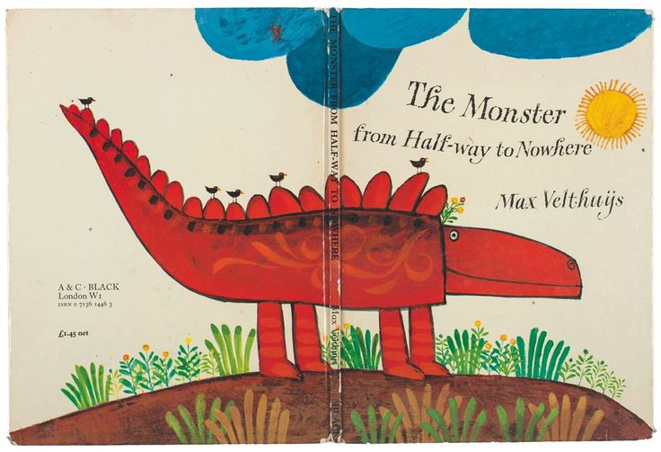 The Monster From Halfway to Nowhere by the late Dutch graphic designer Max Velthuijs, first published in 1973