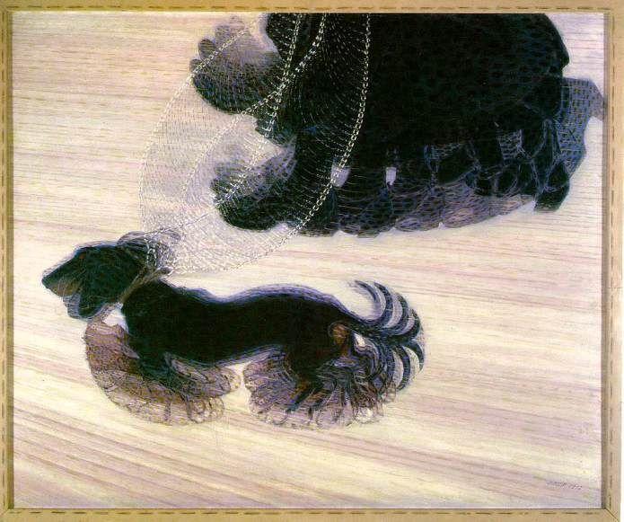 GIACOMO BALLA (Italia, 1871-1958), Dynamisme d'un chien en laisse, 1912 / #Futurismo