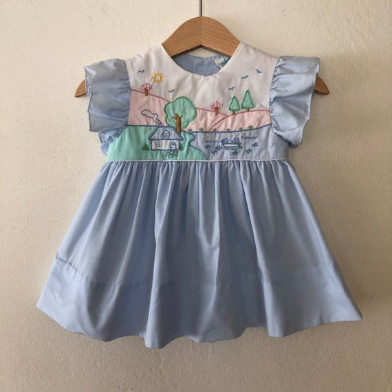 da46a6a1987a Vintage Baby Girls Dress
