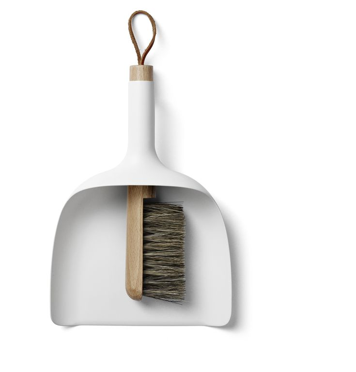 Sweeping up suddenly got stylish with this cool sweeper and funnel by Jan Kochanski for Menu.