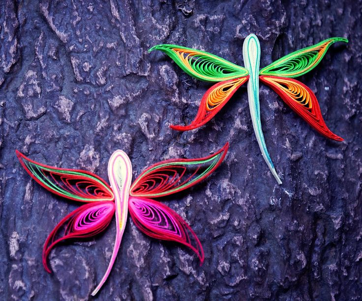 Pretty quilled dragonflies - video tutorial