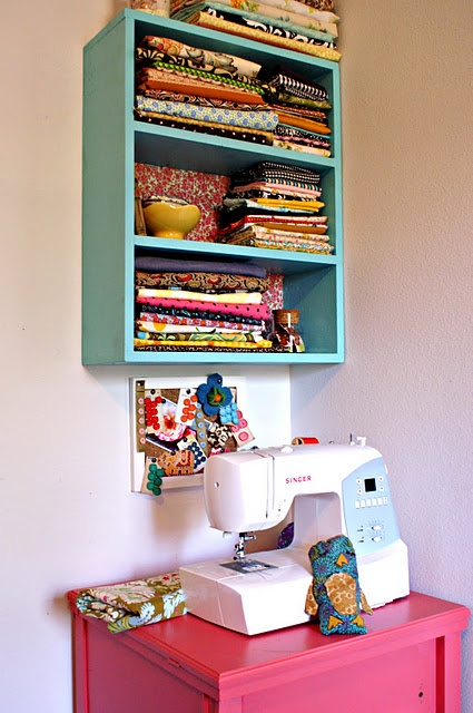 NEED to organize my fabric so I can SEE it!  Maybe then I'd be more inspired to sew again...