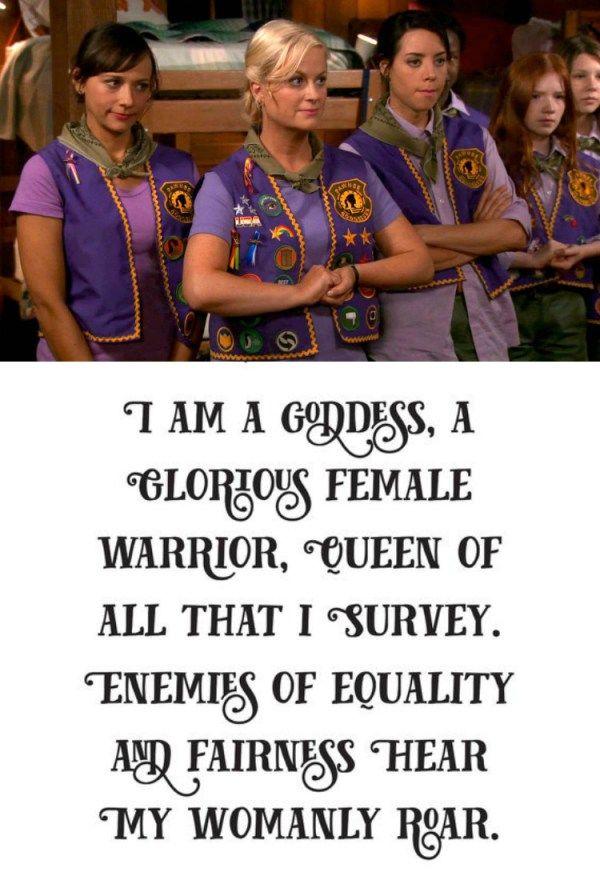 Pawnee Goddess Oath, Parks n Rec, Leslie Knope