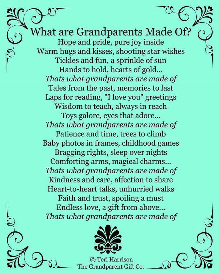 What Grandparents are made of