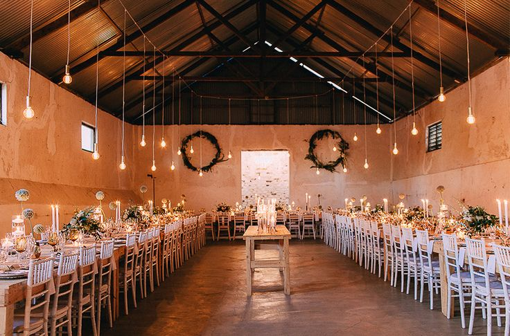 The Diary Shed barn wedding venue in Durbanville. Featured on my list of favourite wedding venues >> http://michelledt.com/wedding-venues-1/  Cozy rustic wedding venue inspiration. Modern Barn style.