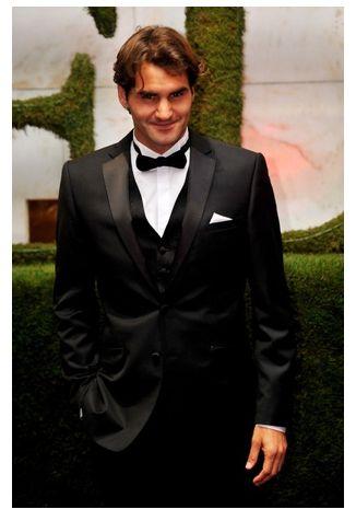 Roger Federer at the Wimbledon Champion's Ball.