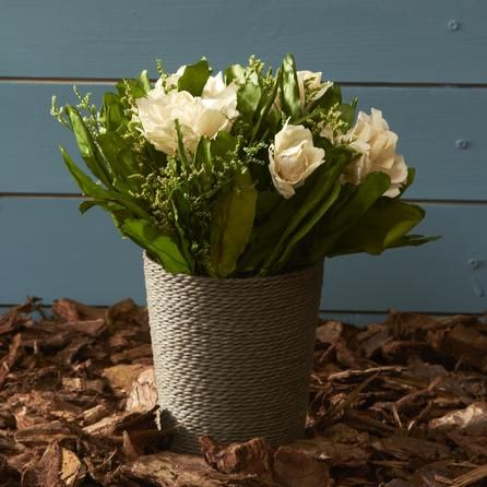 Natural Flowers Floral Decoration with Pot | Dunelm