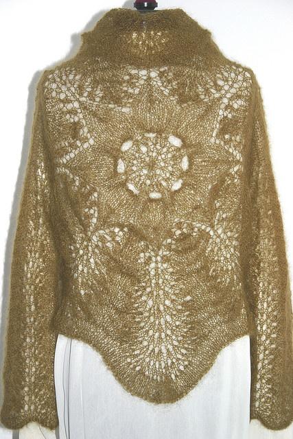 Lace Knitting Pattern Library : Cirkeltr?je / Lace Circle Sweater by Lene Holme Sams?e ...