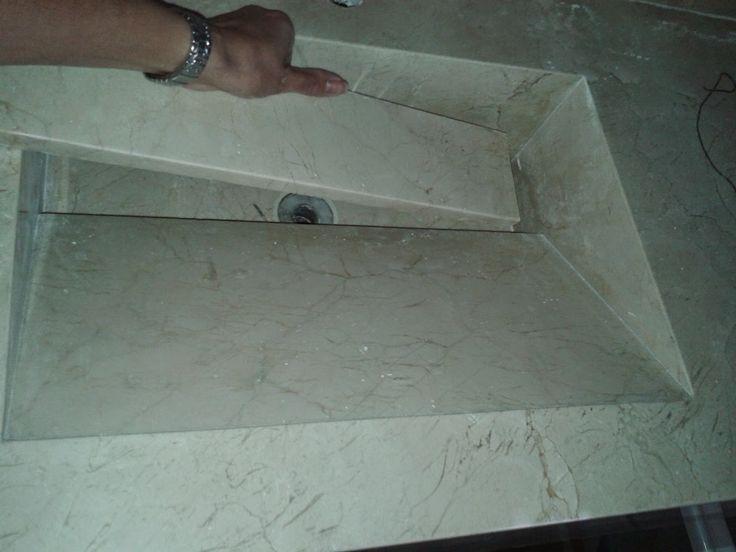 Meu par perfeito-Construindo o meu lar: Lavatório da suíte com cuba oculta, escavada ou embutida no mármore, granito ou porcelanato