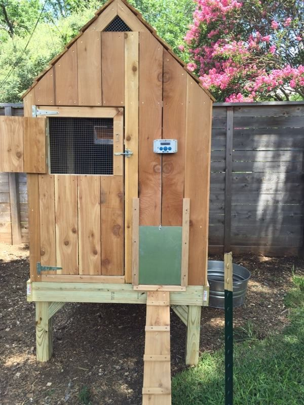 Nice Wooden Elevated Backyard Chicken Coop With Ramp And Chickenguard Automatic Chicken Co Chickens Backyard Automatic Chicken Coop Door Backyard Chicken Coops