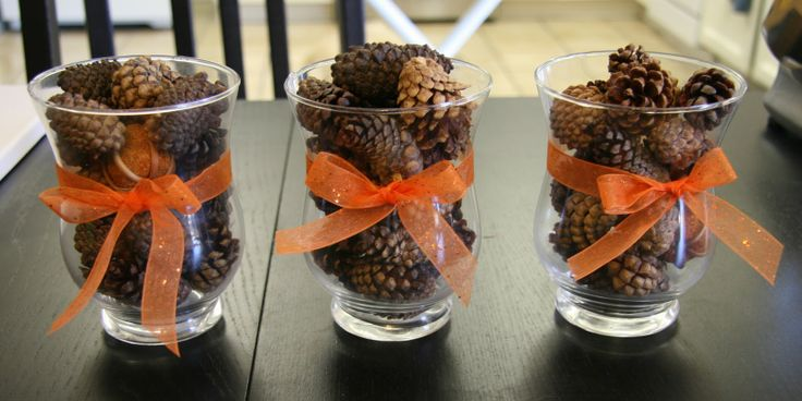 Fall Centerpieces For Tables | Yay for easy! Yay for cheap! Yay for fall! Here's what I spent...