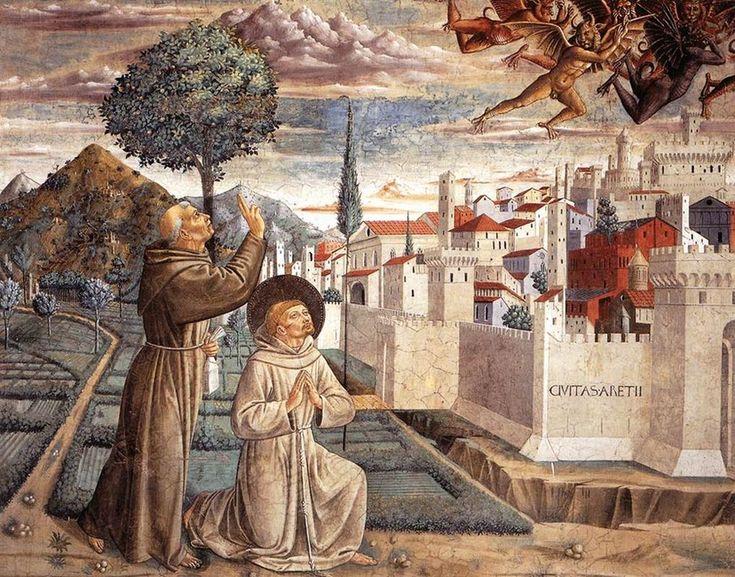 Benozzo Gozzoli >> escenas de la vida del st francisco (escena 6, del norte pared) | (frescos