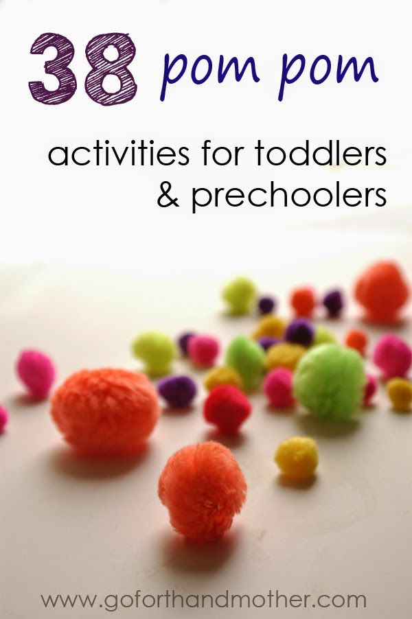38 Pom Pom Play Ideas - A great collection of fun, creative, and easy activities to occupy your little ones!