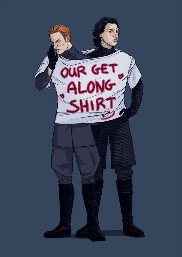Star Wars Fanart: General Hux & Kylo Ren (villains)