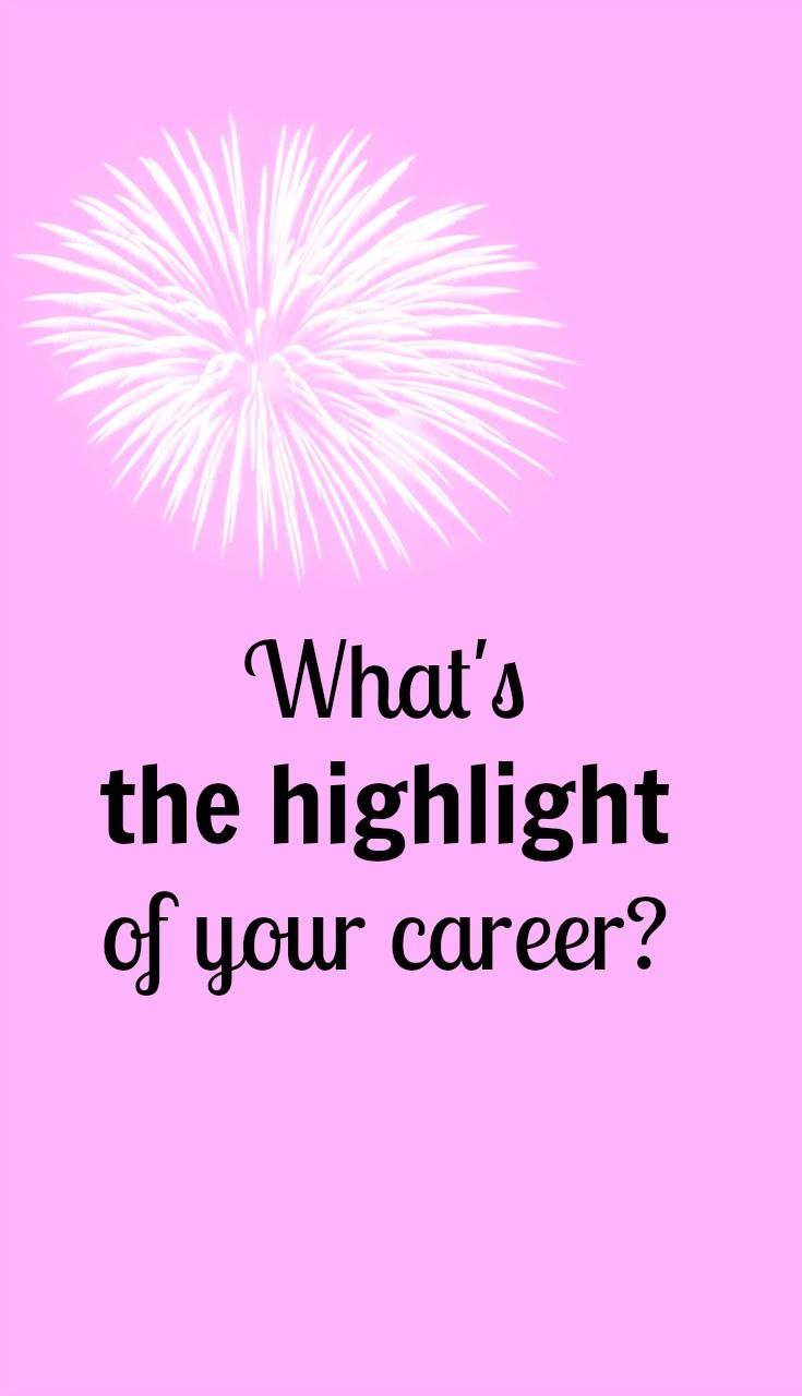 I was asked the other day, What's the highlight of your teaching career, Joanna? and that question was quite difficult to answer because it made me wonder what is the highlight? Highlight the…
