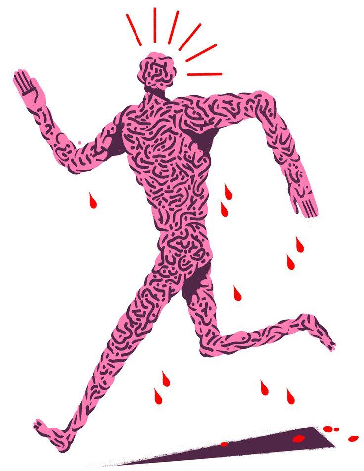 The Brain Dude - Josh Holinaty Illustration