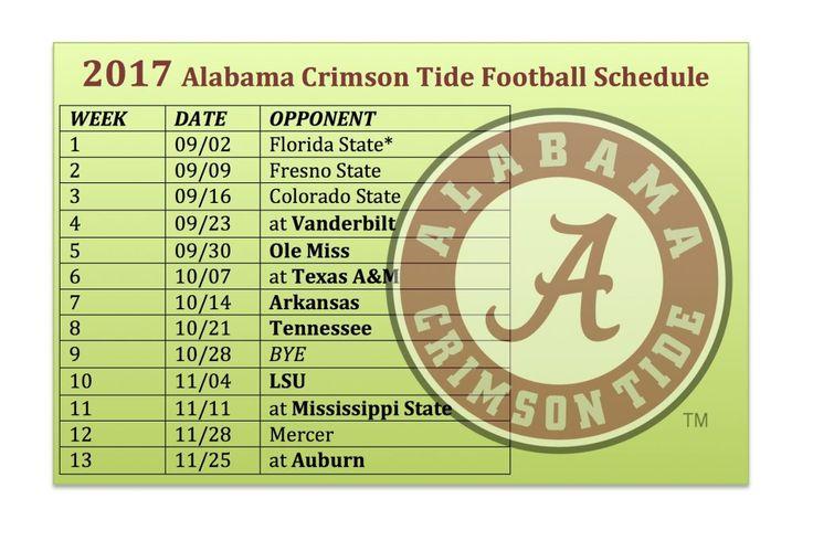 2017 Alabama Crimson Tide Football Schedule Released | | SEC-Power Football