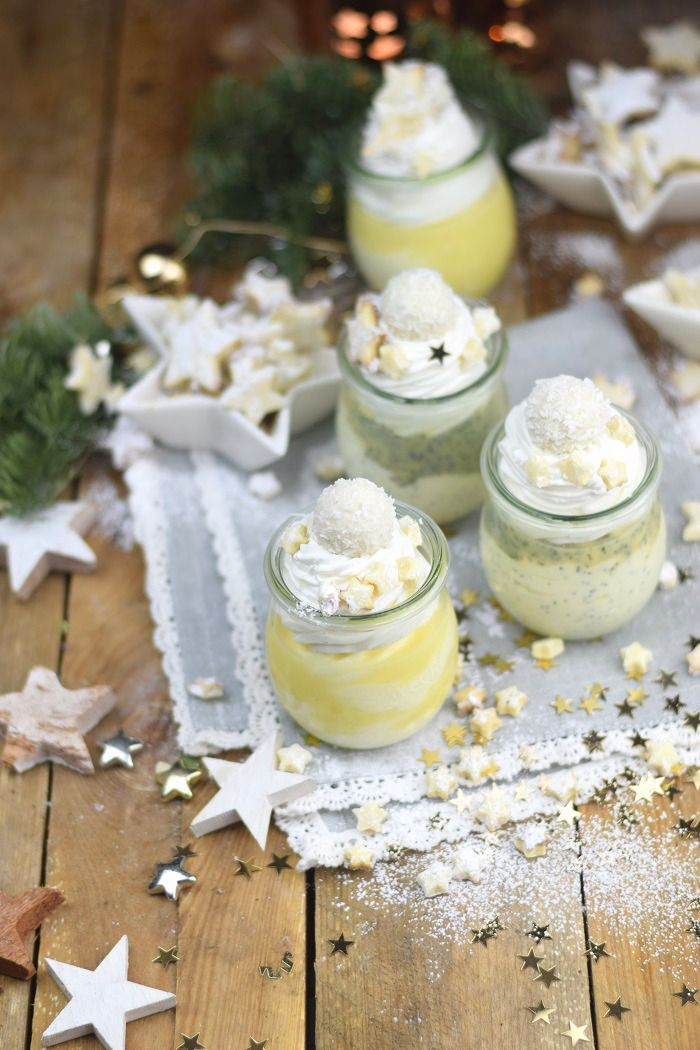 Zitronen Quark Mousse Dessert mit weisser Schokolade - Lemon Cheese Cake Mousse Dessert with white chocolate   Das Knusperstübchen