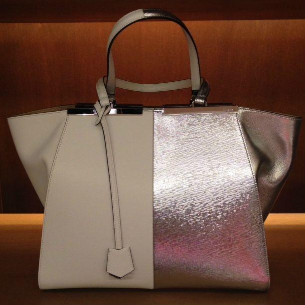 Fendi #3Jours #bag #shopping #silver #SpringSummer #FolliFollie #collection