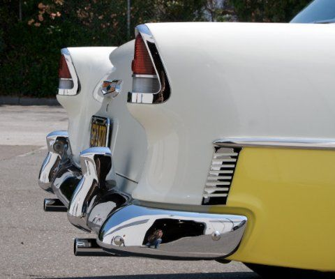 Rear end of a '55 Chevy 210