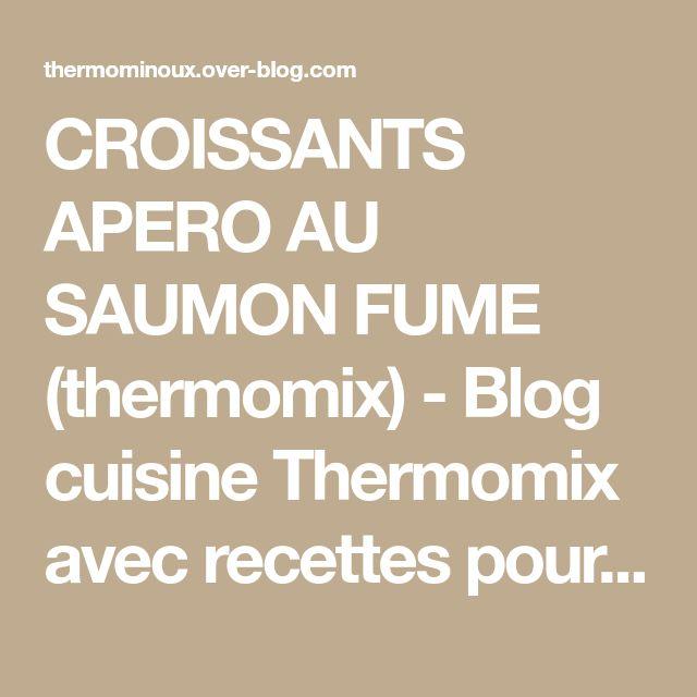 CROISSANTS APERO AU SAUMON FUME (thermomix) - Blog cuisine Thermomix avec recettes pour le TM5 & TM31