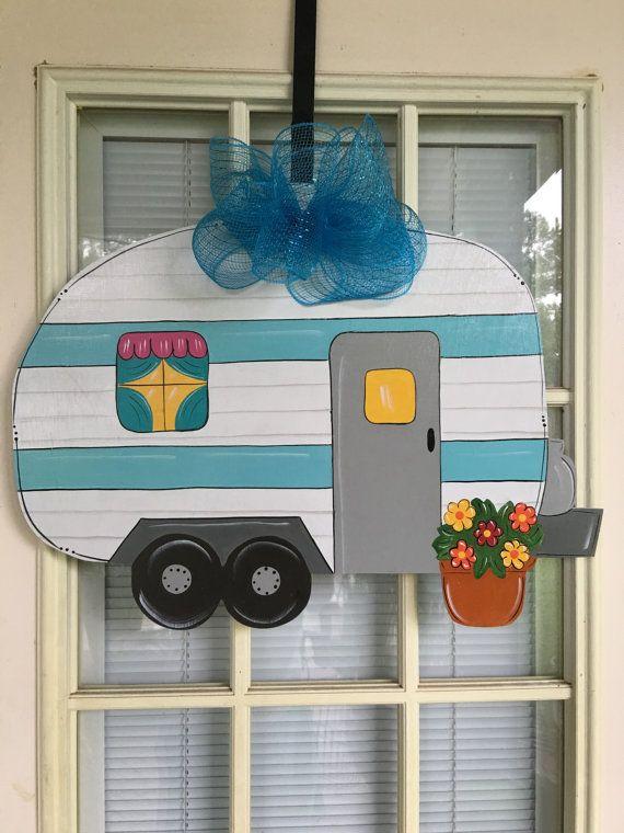 RV Summer door hanger camper door hanger front by samthecrafter