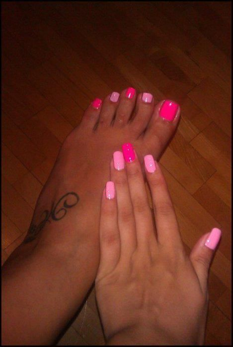38 best Matching nails and toes images on Pinterest | Mani pedi ...