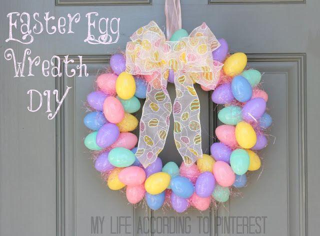 DIY: Easter Egg Wreath