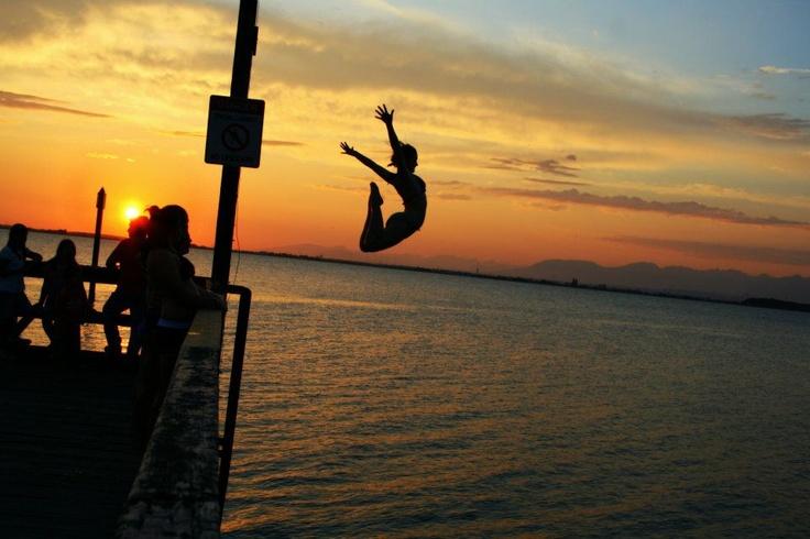 Sunset jump at Crescent Beach  #SummerInSurrey #SurreyBC