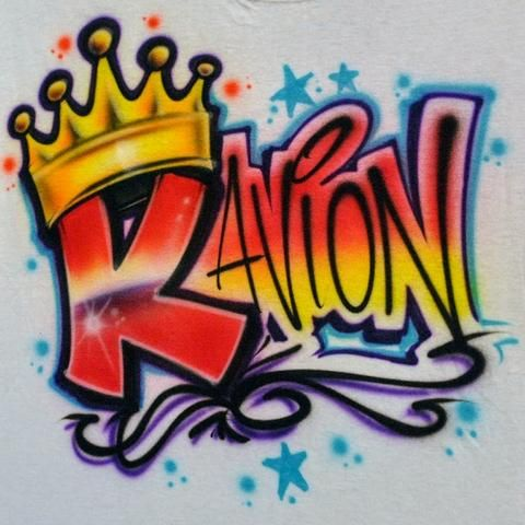 exclusive shoes search for official cheaper Custom Graffiti Crown Airbrush Shirt Design | Airbrush ...