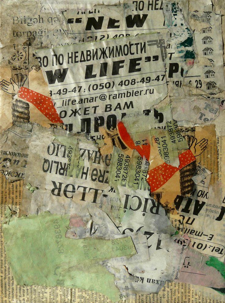 Baku 2 - New Life ! 33 x 24 cm sur carton entoilé
