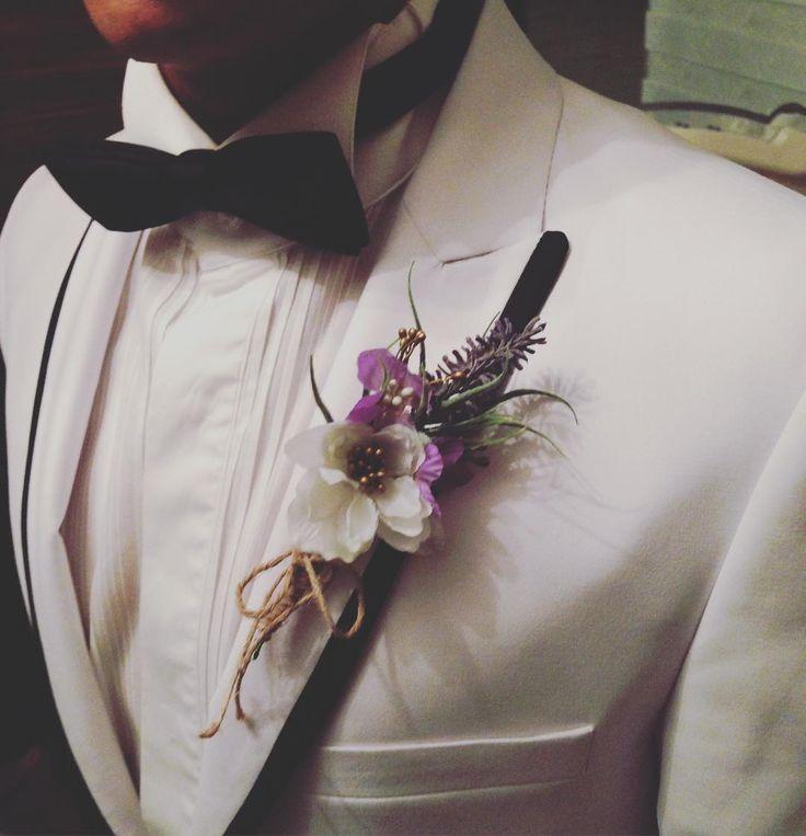 Groom Boutonniere - Yaka Çiçeği