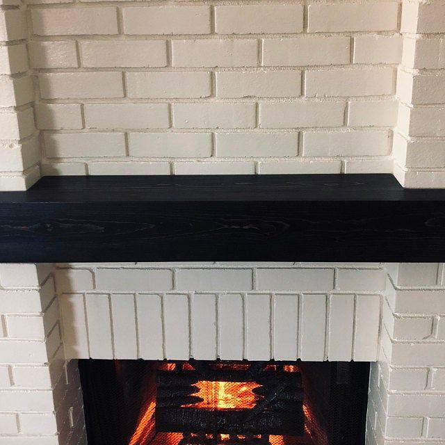 Wood Beam Mantel Rustic Wood Mantel Fireplace Mantel Mantel