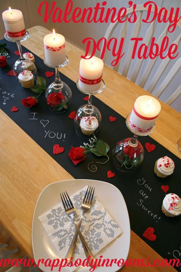 Valentine's Day DIY Dinner Tablescape