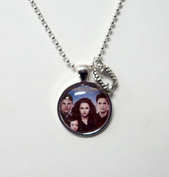 SALE Necklace Silver Twilight Breaking Dawn by TAKJewelryDesigns, $5.00