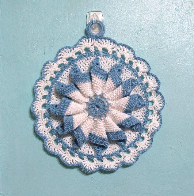 Bonito Patrón Potholder Solo Crochet Fotos - Ideas de Patrones de ...