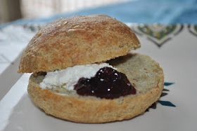 Swedish Breakfast Buns - low carb - almond flour, flax seed, sunflower seeds, sour cream