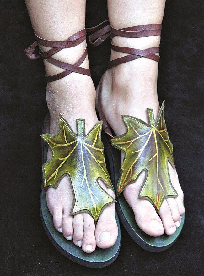 leaf sandals pendragon fairy shoes women shoes sale