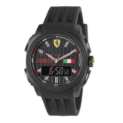 Scuderia Ferrari Aerodinamico Chronograph Watch Exclusive Carbon NEW #ferrari #ferraristore  #scuderiaferrari #watch #collection #new #aerodinamico #cronograph #exclusive #prancinghorse #cavallinorampante #passion #carbon #digital #display #alarm #data #timezone #waterproof