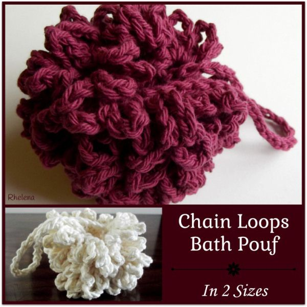 Chain Loops Bath Pouf - FREE Crochet Pattern