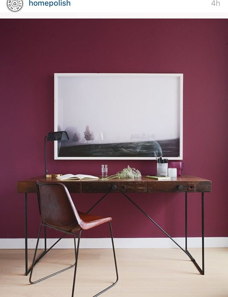 3 Room Hdb Accent Wall: Purple Home Offices, Room Colors