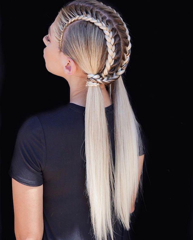 47 Trendige Frisuren mit Zöpfen, die Sie lieben werden (2019) Die Trends bei trendigen Frisuren mit Zöpfen sind vielfältig und es gibt viele Möglichkeiten. UND...