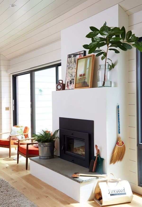 25 best ideas about simple fireplace on pinterest wood mantle tiled fireplace and white - Beneficial contemporary fireplace mantel shelves ...