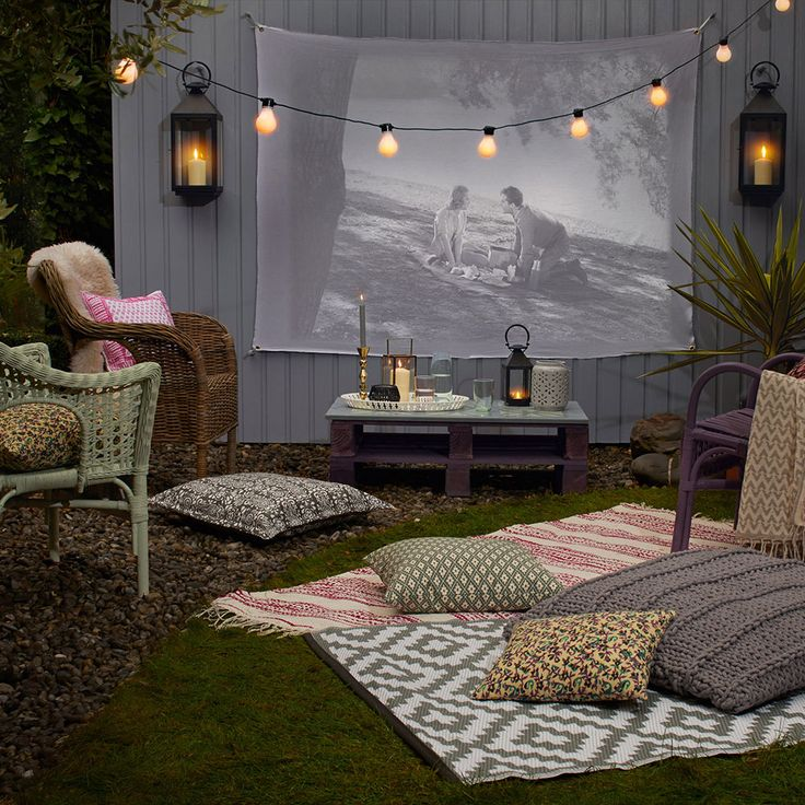 Outdoor cinema screenings are big news this summer, but if you've not managed to get tickets to the open-air movie night in your local park, why not host one in your own backyard? It doesn't have to be expensive – particularly if you can borrow a projector from a friend – and best of all, you'll get to choose what film to watch. Right, someone pass the popcorn!